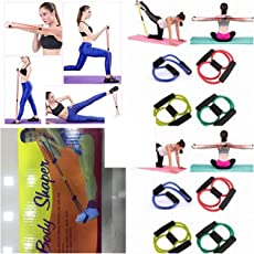Skywalk Rubber Extra Strong Pull String/Rope Exerciser/Toning Tube (Assorted Colour)