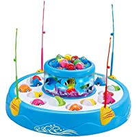 Toyshine Fish Catching Game Big with 26 Fishes and 4 Pods, Includes Music and Lights (Mix Color)