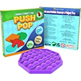 Desire Deluxe Push Pop Fidget Toys Pack for Kids - Sensory Anxiety Stress Relief Push It Autism Toy for Girls & Boys - Gift R