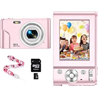 CLUINIGO Appareil Photo Numérique Compact 1080P Mini Digital Camera Caméra vidéo numérique 2,4 Pouces LCD Video Camera…