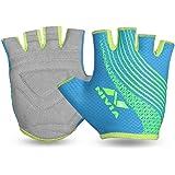 Nivia Taipen Sports Gloves Grey SkyBlue