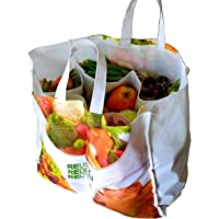 VITARA™ Organics Eco Reusable Vegetable Bag with 6 Pockets for Purchase Vegetables, Provision and More