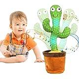 MIAODAM Jouet en peluche cactus, jouets en peluche cactus dansant chanter et danser, jouets en forme de cactus shake électron