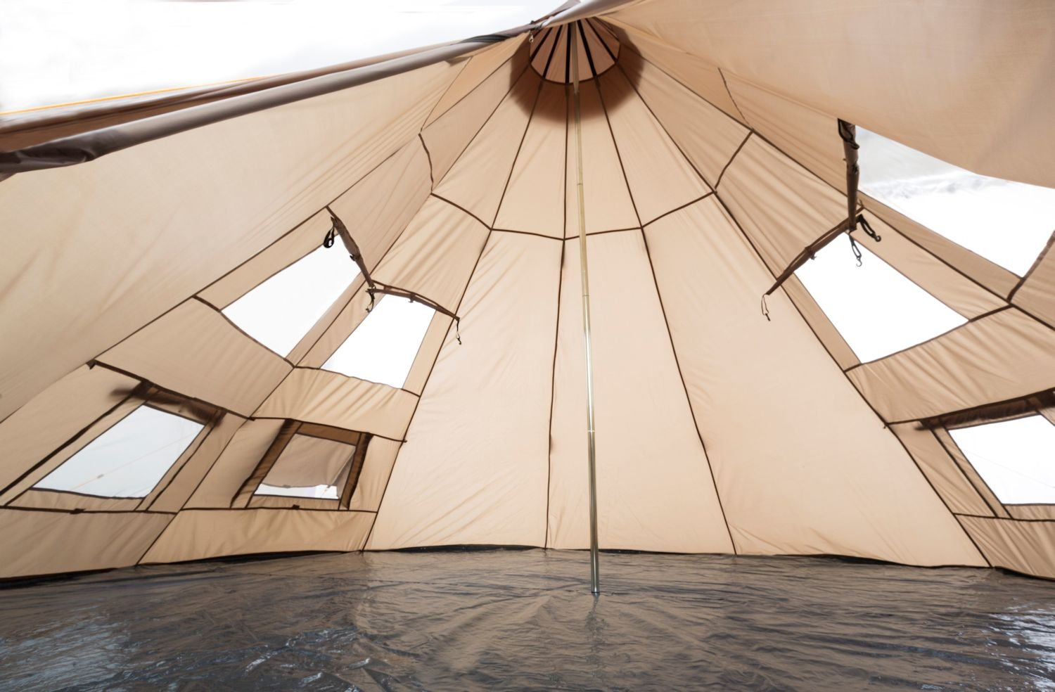 CampFeuer - Teepee Tent, Tipi brown 5