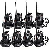 Walkie Talkie Recargable 16 Canales CTCSS DCS Walkies Talkies con el Auricular Incorporado Antorcha de LED y Cargador USB (4