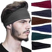 CYSJ 6 Pezzi Fasce Sportiva, Capelli per Uomo e Donna Headbands, Elastica Fascia Sportiva Bandana Accessori Capelli…