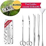 NAN-YAN 5 en 1 Aquarium en Acier Inoxydable spatule Brucelles Eau végétale Scissor Outil Aquariums & Poisson Starter Kit
