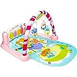 Mumoo Bear Baby Play Gym Kick and Play Mat Newborn Activity Gym Lay & Play 3 in 1 Fitness Music and Lights Fun Piano (Pink)