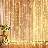 Miradh 240 LED 9.8 Feet Window Curtain String Light Led Light for Home Decoration Diwali Light (Warm-White Led Curtain…
