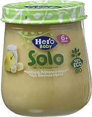 Hero Alimento Infantil con Manzana, Plátano y Yogur Eco, 120g