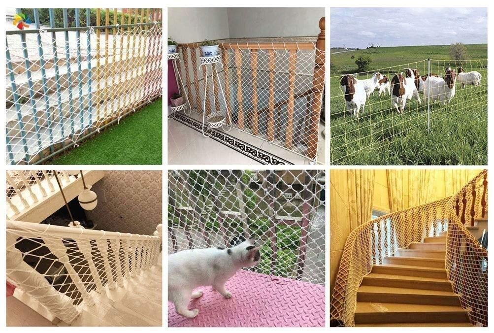 Balcony protection net, stair shatter-resistant net, terrace safety net, nursery fence net, playground park stadium fence net hammock swing (Size : 10 * 10M(33 * 33ft))  ◆ Safety net wire diameter 6MM, mesh spacing 10CM.Color: white rope net.Our protective mesh can be customized according to your needs. ◆Protective net material: Made of nylon braided rope, hand-woven, tightened.Exquisite workmanship, solid and stable, can withstand 300kg weight impact. ◆Features of decorative net: soft material, light mesh, multi-layer warp and weft, fine wiring, fine workmanship; clear lines, non-slip durable, anti-wear. 3