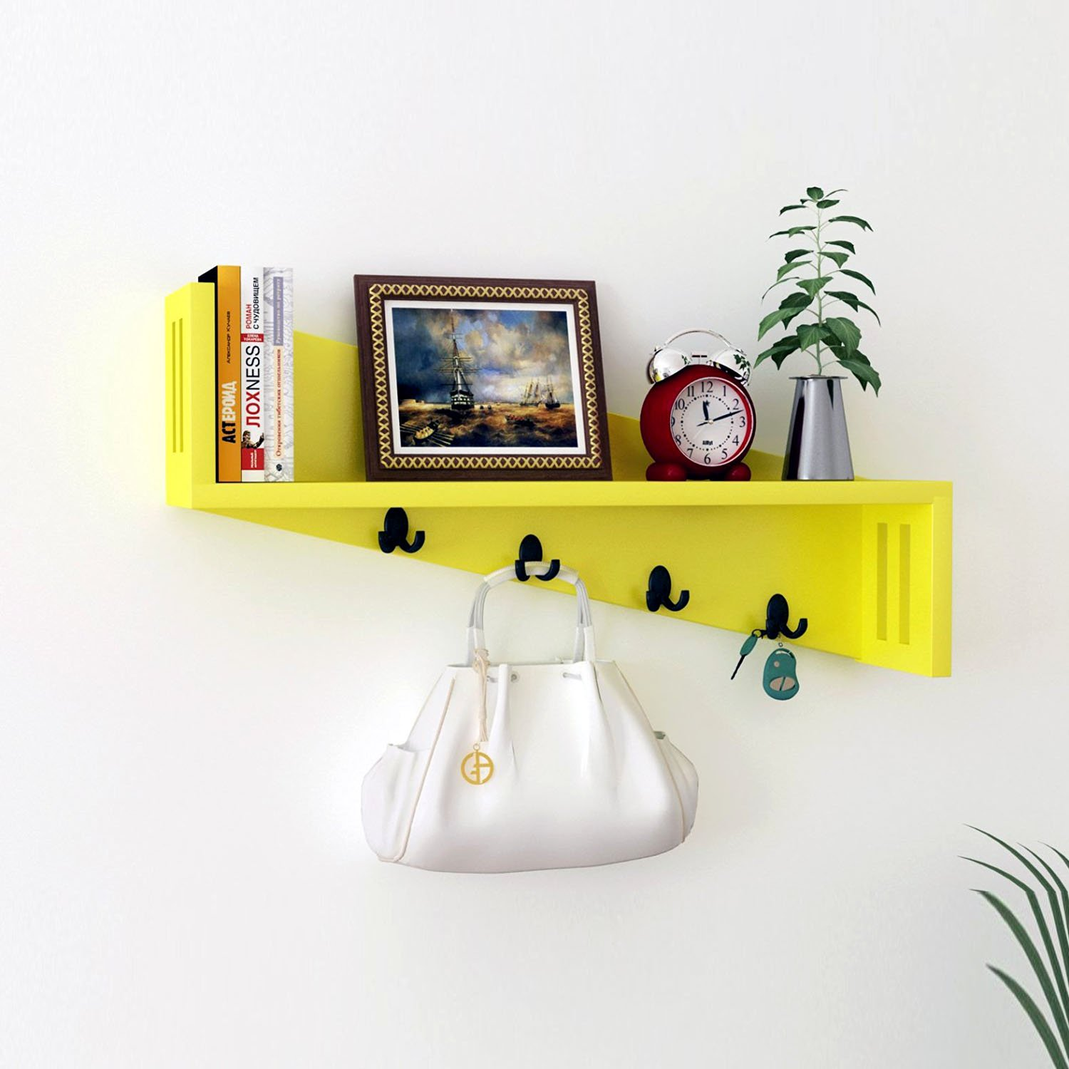 Quirkstop-Artesia Wooden Wall Shelf