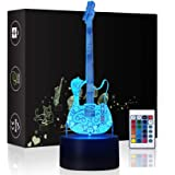 HeXie LED Night Lights 3D Illusion Bedside Table Lamp 16 Colours Changing Sleeping Lighting with Smart Touch Button Warming P