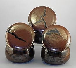 original französische wassergekühlte keramik butterdose, immer streichzarte butter zum frühstück, ca. 125 gr, glasur tenmoku gefleckt B-K