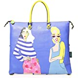 GABS Borsa Flat Bag Donna G000036T3 Taglia L in vera pelle 43x36 centimetri