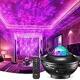 Sternenprojektor Nachtlicht,LED Dimmbar Galaxy Projector Light mit Fernbedienung Bluetooth,Sternenhimmel Farbwechsel Touch La