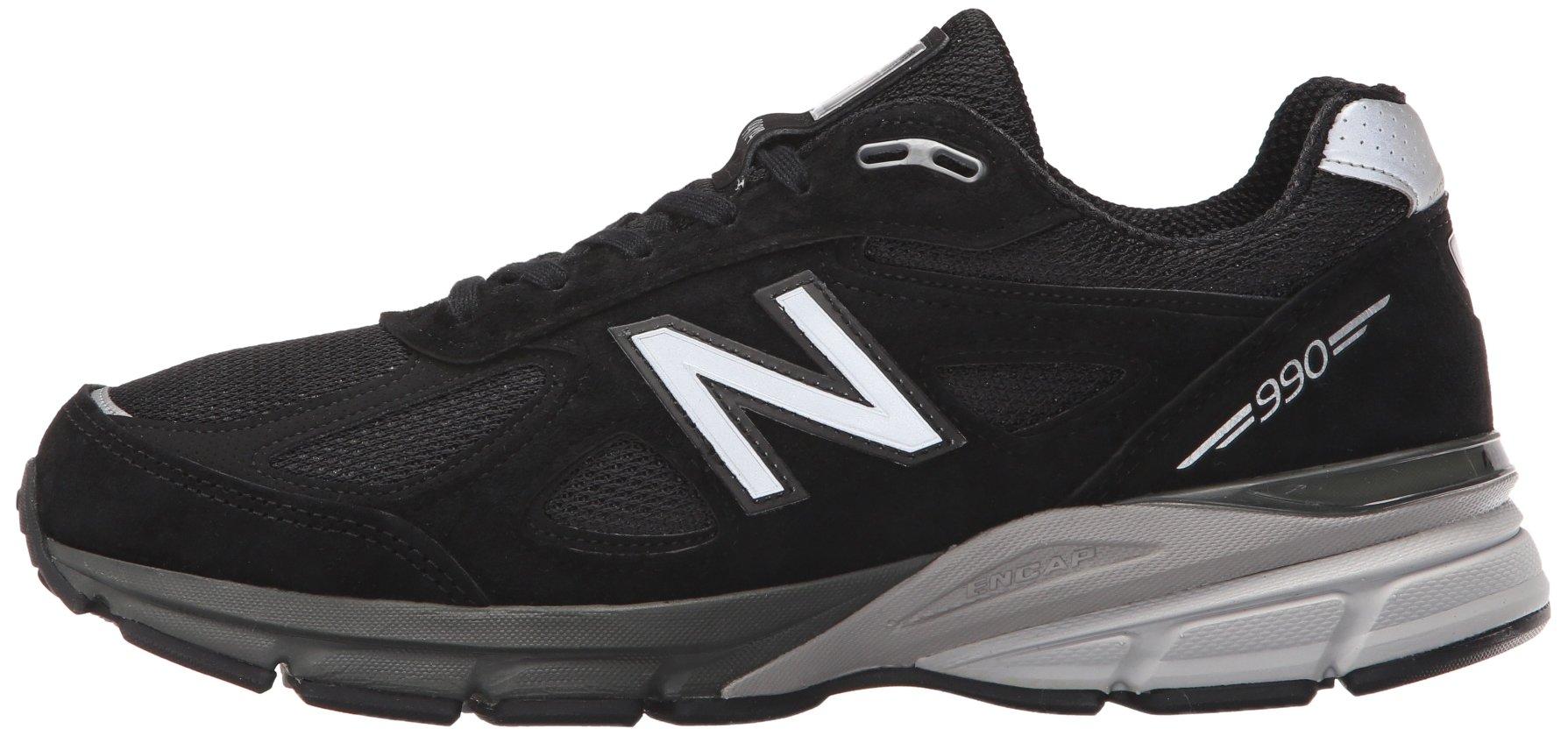 71ty91MZi4L - New Balance Mens M990 990v4 Black Size: 7.5 Wide
