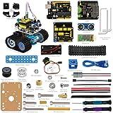 KEYESTUDIO Mini Tank Roboter für Arduino UNO Starter Project Smart Auto Kit Mit UNO R3 inkl Tutorial Buch Stiel Bildung