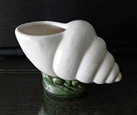 Planters Shankh Design Ceramic Flower Pot