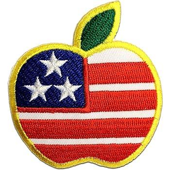 blau 7,0 x 7,0 cm USA Herz America Flagge Fahne Aufnäher // Bügelbild