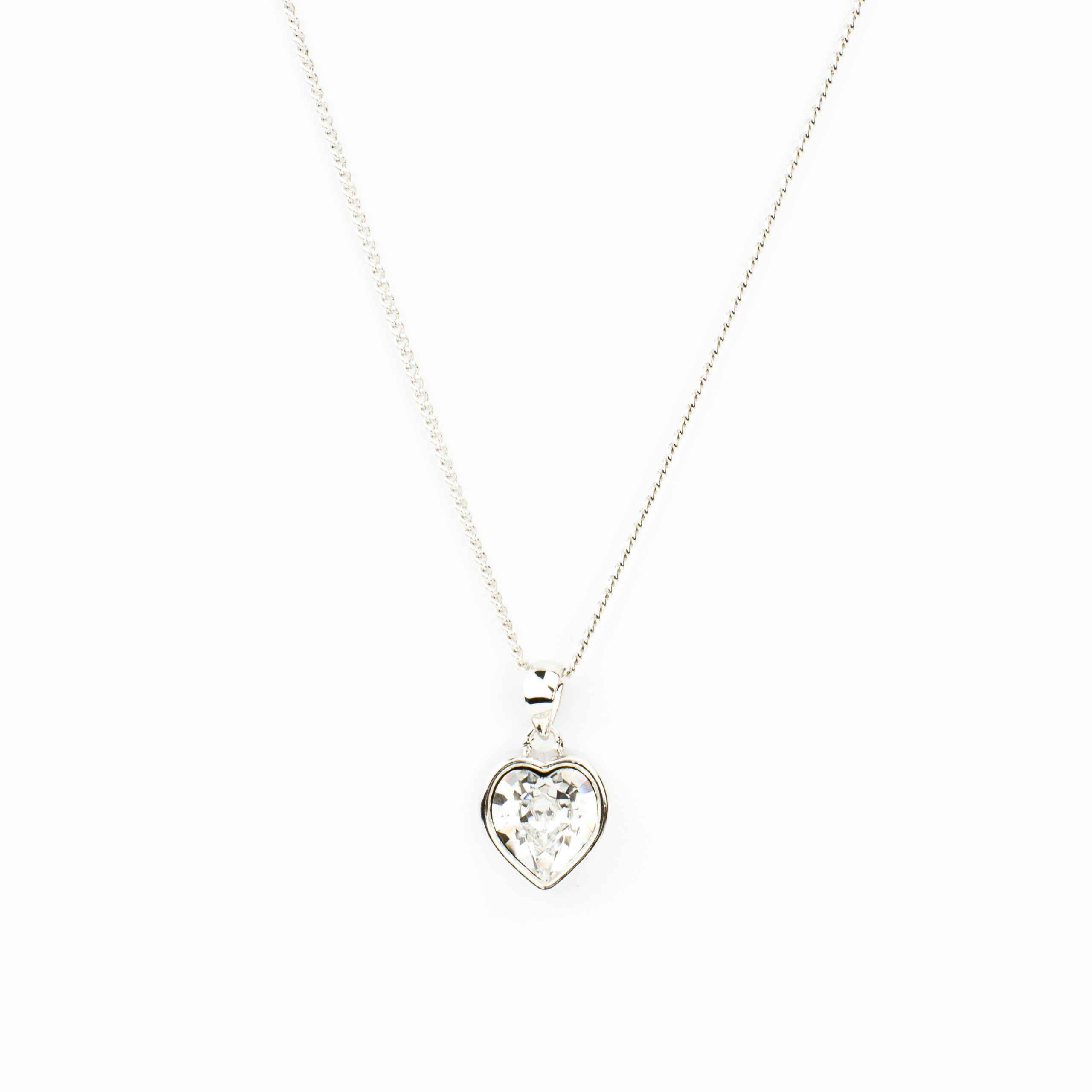 Eve S jewelry–Collana da donna con ciondolo Swarovski Elements Crystal placcati argento rodiato bi