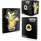 EKKONG Tarjetero Pokémon, Álbum de Cartas Coleccionables Pokémon, Pikachu Collection Handbook, Carpeta de Titular de Tarjetas