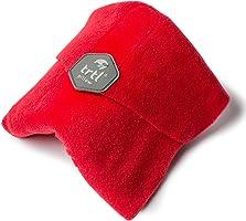 Trtl Pillow – Wissenschaftlich belegt super weiches Nacken unterstützendes Reisekissen - Waschmaschinenfest Rot