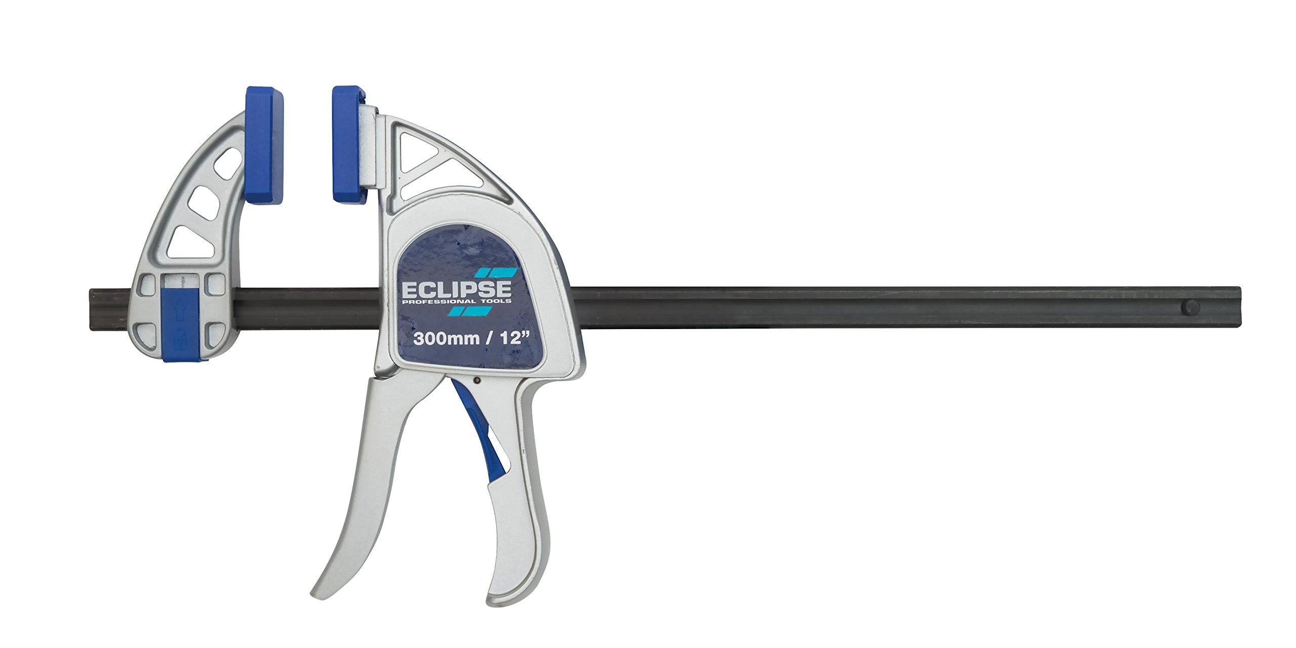 Eclipse Eohbc12-hd Heavy Duty Serre-joint à une main, Bleu/argenté/noir, 30,5cm