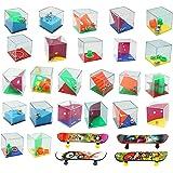 28 Mini Giochi di Puzzle, 24 Set di Puzzle, 4 Mini Skateboard per Dita, Diversi Livelli di Giochi, Giochi di Livello Diverso,