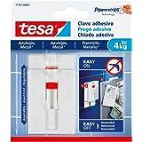 Tesa TE77767-00001-00 SMS-Clavo, verstelbaar, Hasta 4 kg, voor Azulejos, standaard, 2 stuks