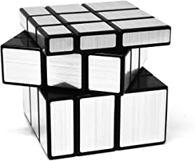 Emob 3x3 Brain TeaserTwisting Mirror Magic Rubik Cube Puzzle Toy (Silver)