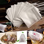 200 Pcs Empty Non Woven Drawstring Tea Bags Disposable Filter Bags