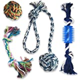 Synaty Pets 4 in 1 Dog Interactive Toys Dog Rope Toys for Small Medium Size Dogs Multi Colors