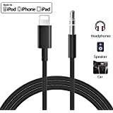 [Updated Version] Aux Cord for iPhone 3.5mm Aux Cable Car AUX Audio Cable to 3.5mm Aux Adapter Compatible with iPhone 11 Pro/Xs/XR/X/8/7 to Car Stereo/Speaker/Headphone Support iOS 13 or Later-Black