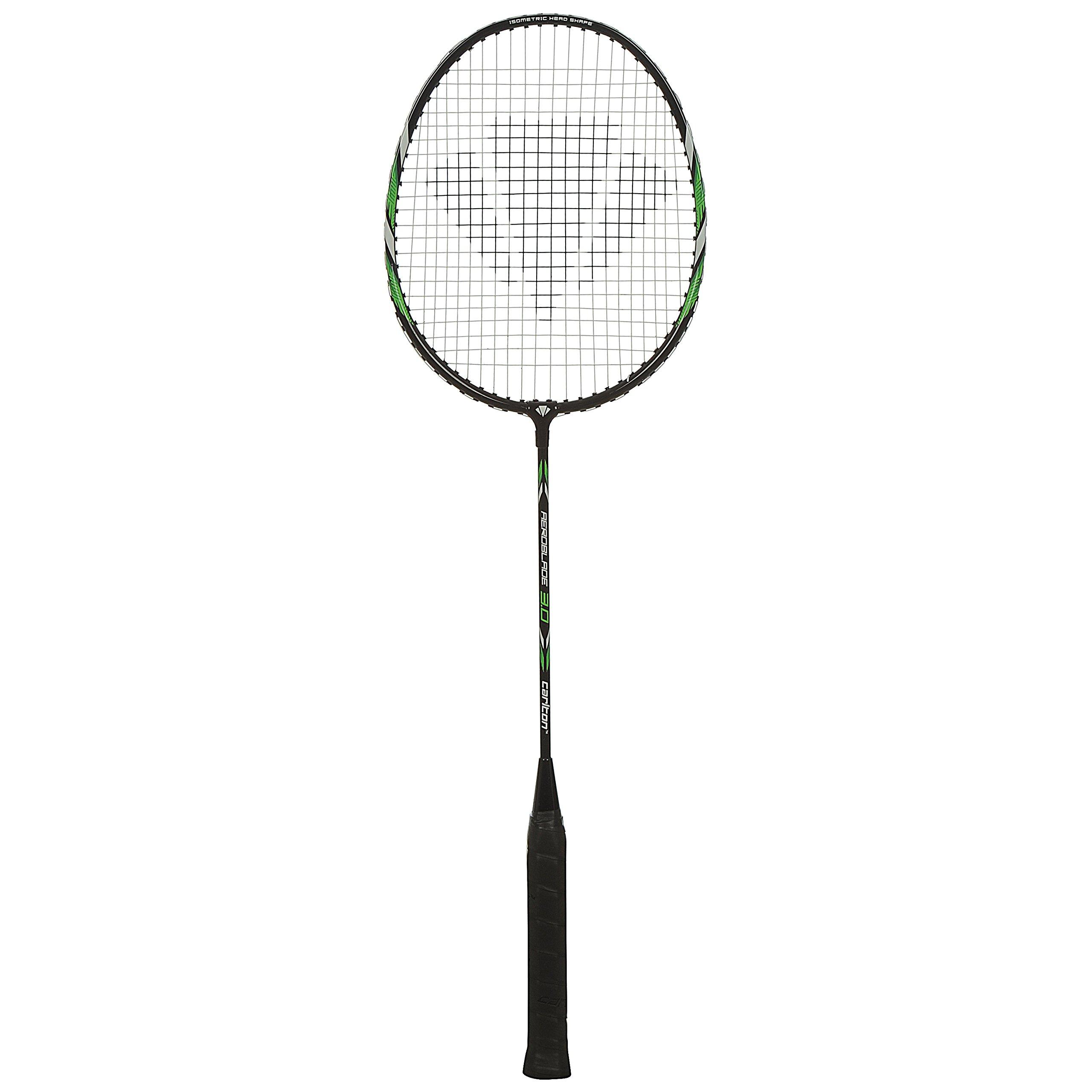 Dunlop raqueta de bádminton Carlton Aeroblade 3.0de carga, Negro/Blanco/Verde, One size, 113671