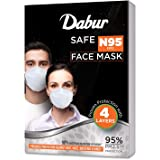 Dabur Safe Face Mask N95, Equivalent Bacterial Filteration, Provides protection against Dust, Haze and Bacteria