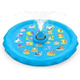 SEATANK Summer Sprinkler and Splash Water Mat Portable for Kids Inflatable Spray Pad Activities Games with Swimming Toddler P