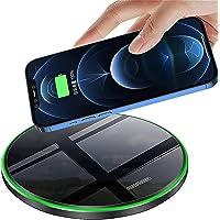 [2021 Neuste] Fast Wireless Charger, 20W Qi Schnelles Kabellosen Ladepad Induktions Ladegerät mit USB-C Kabel für Apple…