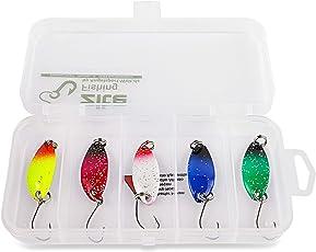 Forellenblinker-Set Zite Fishing - 5 Farben Trout Spoon Glitter Blinker 3g