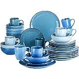 vancasso, Série Navia, Service de Table Complet en Céramique, 32 Pièces pour 8 Personnes, Assiette Faïence Style Moderne