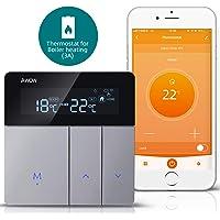 AWOW Termostato WiFi per Caldaia a Gas/Acqua,Termostato Intelligente Programmabile Con LCD Display,Controllo Remoto…