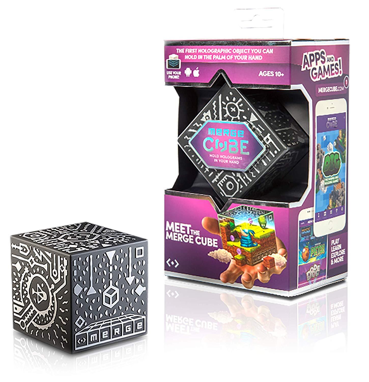 MERGE Cube (Édition UE) – Tenez Un Hologramme, Fonctionne avec des Lunettes VR/AR et inclut des Jeux gratuits en AR Ainsi Que des Applications en Langue Locale. Compatible avec iOS et Android.