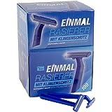 Teqler Engångs rakapparat T-370650, rakar alla hårlängder försiktigt, säkert och hudvänligt, blått (förpackning med 100)