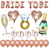 Addio al Nubilato Sposa Decorazioni Palloncini, Bride to Be Banner, Palloncini Oro Rosa, Palloncini coriandoli, Palloncini fo