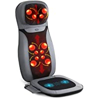 INTEY Siège Massant Fauteuil Siège de Massage Shiatsu Massage du Dos Cou Epaule Matelas de Massage Pétrissage Roulement…