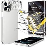 EGV Compatibile con iPhone 12 Pro Max Protector de Pantalla,3 Pack Cristal Templado e 3 Pack Protector de Lente de Cámara Tra