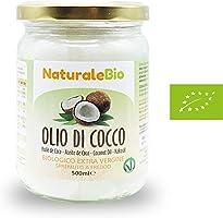 Olio di Cocco Biologico Extra Vergine 500 ml | Crudo e Spremuto a Freddo | Organico e Puro al 100% | Ideale sui Capelli,...
