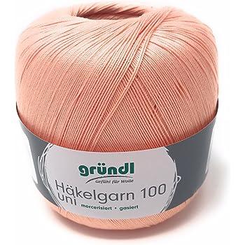 Häkelgarn 100 Gramm Baumwolle Filet Garn Häkeln Farbe Lachs112