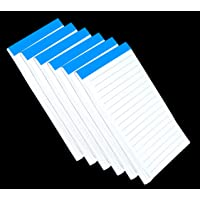 TULMAN Ruled Writing Notepad 30 Pages for Office, Home, Shop, School (16 x 9 cm) (6 Pack)