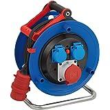 Brennenstuhl Garant CEE 1 IP44 Kabelhaspel voor commerciële en bouwplaatsen (30 m kabel, speciaal kunststof, voor gebruik op
